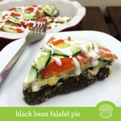 Black Bean Falafel Pie