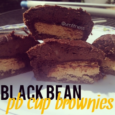 Black Beans Peanut Butter Brownie Cups