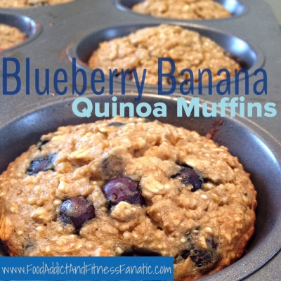 Blueberry Banana Quinoa Muffins