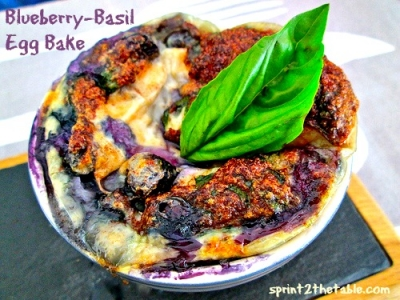 Blueberry-Basil Egg Bake