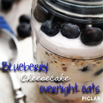 Blueberry Cheesecake Overnight Oats