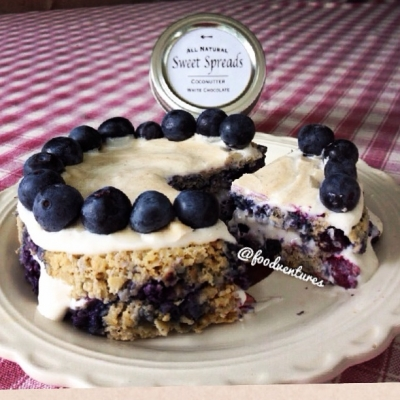 Blueberry Pie Oat Cake