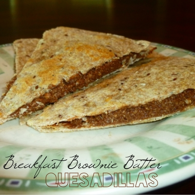 Breakfast Brownie Batter Quesadillas