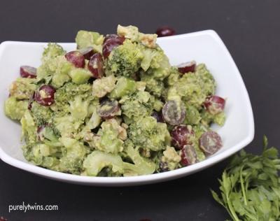Broccoli Avocado Waldorf Salad
