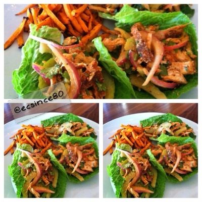 Buffalo Chicken Salad Lettuce Wraps