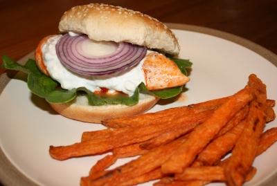 Ripped Recipes - Buffalo Chicken Burger
