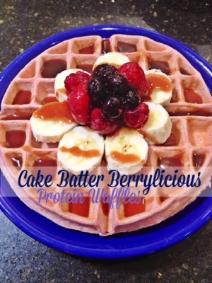 Cake Batter Berrylicious Protein Waffles