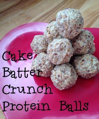 Cake Batter Crunch Protein Balls