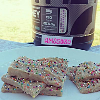 Cake Batter Protein Fudge