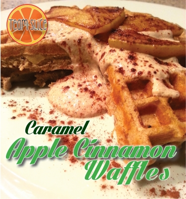 Caramel Apple Cinnamon Waffles