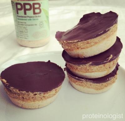 Caramel Peanut Protein Shortbread Cups