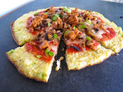Cauliflower Scallion Pizza Crust