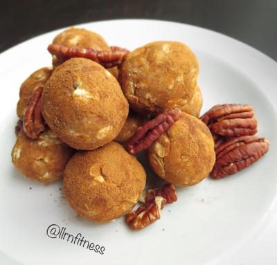 Chai Peanut Butter Protein Balls