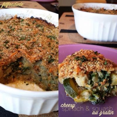 Cheesy Spinach & Squash Au Gratin
