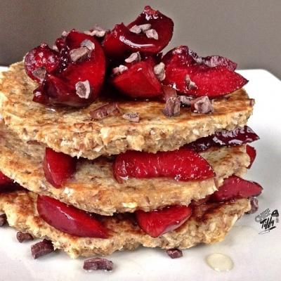 Cherry Cocoatnut Pancakes