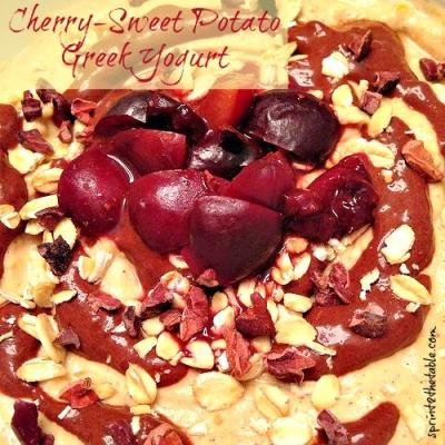 Cherry-Sweet Potato Greek Yogurt