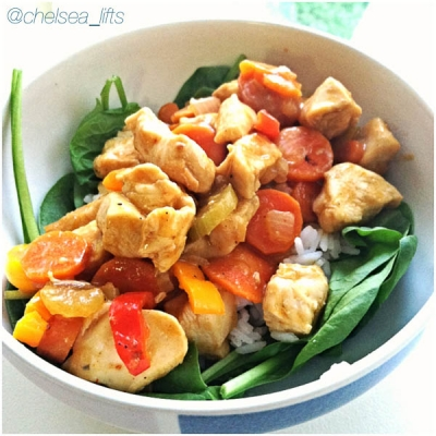 Chicken and Vegetable Red Thai Curry
