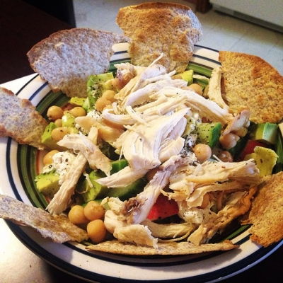 Chicken, Avocado and Goat Cheese Salad