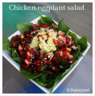 Chicken Eggplant Salad