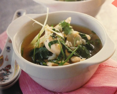 Chicken, Ginger, & Rice Soup