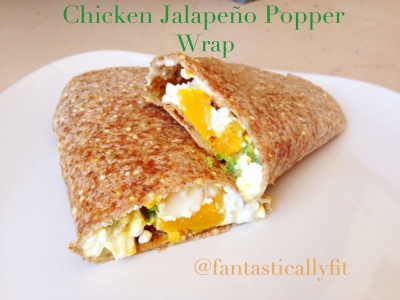 Chicken Jalapeno Popper Wrap