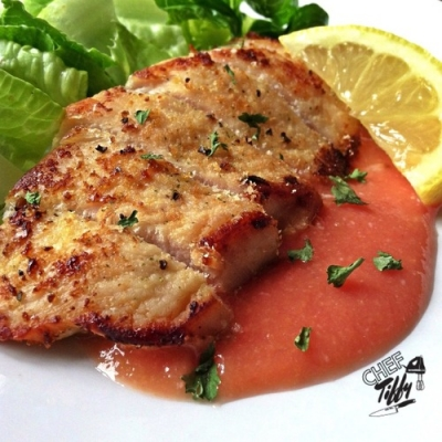 Chicken Over Guava Sauce