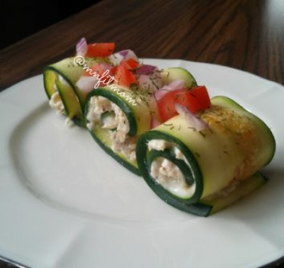 Chicken Salad Zucchini Roll-Ups