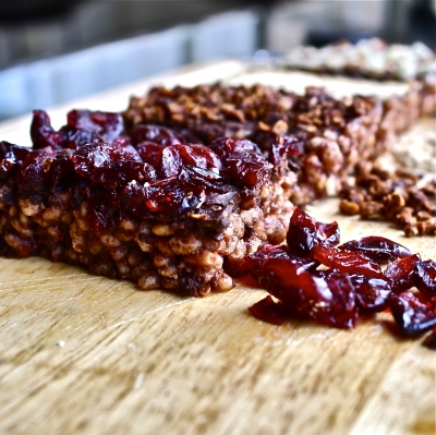 Chocobutterberry Rice Crispy Bars