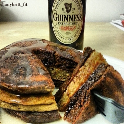 Chocolate & Plain Guinness Pancakes