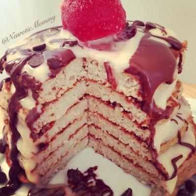 Chocolate and Vanilla Protein Pancakes