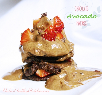 Chocolate Avocado Pancakes