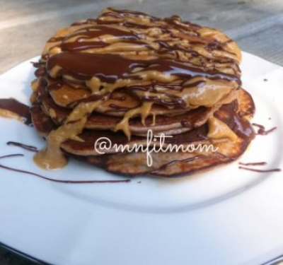 Chocolate Chocolate Chip Banana Pancakes