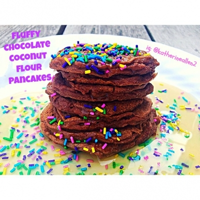 Chocolate Coconut Flour Pancakes
