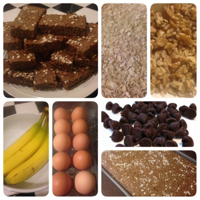 Chocolate-Covered-Banana Breakfast Bars