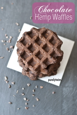 Chocolate Hemp Waffles