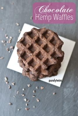 Chocolate Hemp Waffles