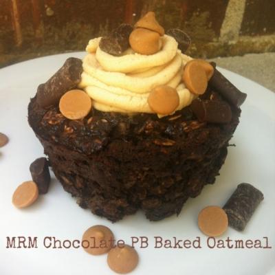 Chocolate Pb Baked Oatmeal