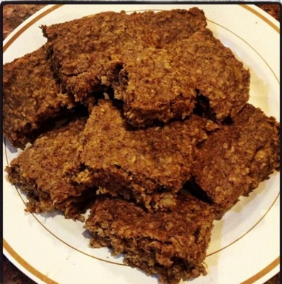 Chocolate Peanut Butter Oatmeal Squares