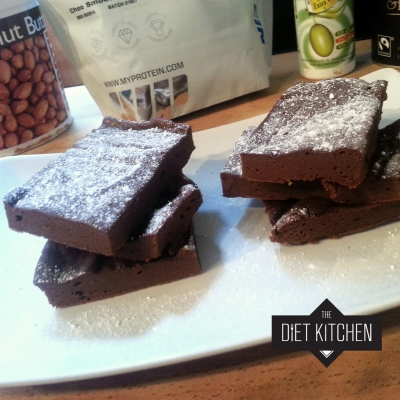 Chocolate Peanut Butter Protein Brownies