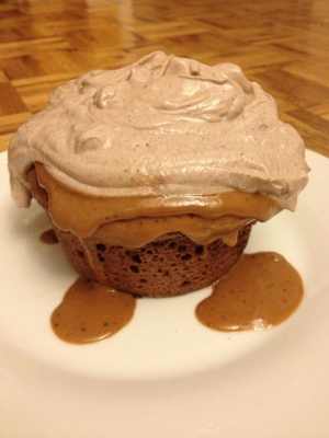 Chocolate Peanut Butter Protein Cake With Frosting