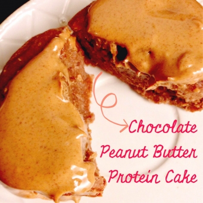 Chocolate Peanut Butter Protein Cake