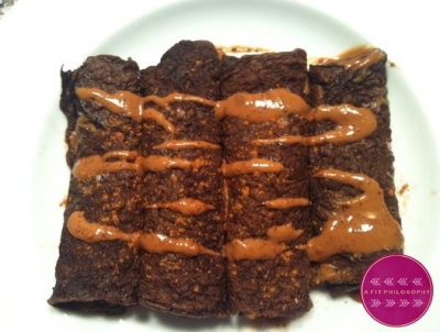 Chocolate Peanut Butter Protein Crepes