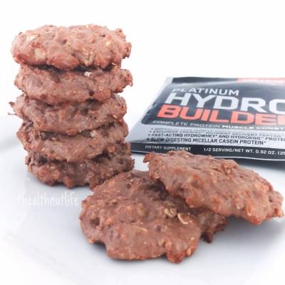 Chocolate Protein Oatmeal Cookies