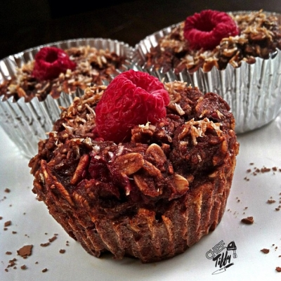 Chocolate Razz Mini Oat Bakes