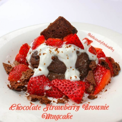 Chocolate Strawberry Brownie Mugcake