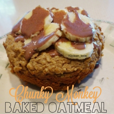 Chunky Monkey Baked Oatmeal