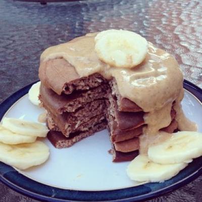 Chunky Monkey Protein Pancakes