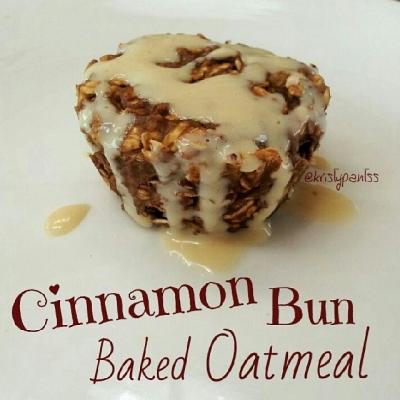 Cinnamon Bun Baked Oatmeal