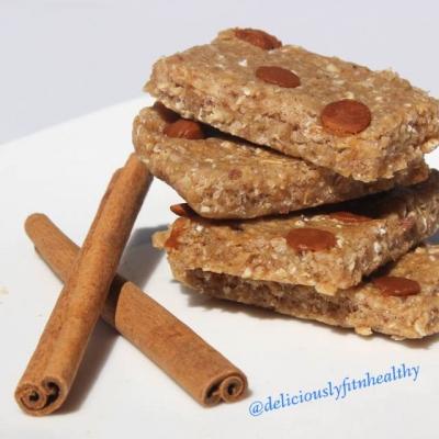 Cinnamon No Bake Protein Bars