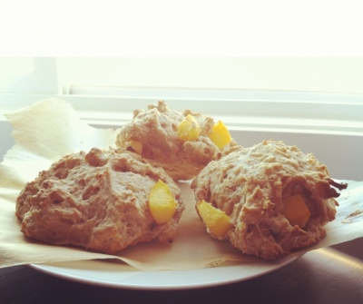Cinnamon Peach Scones
